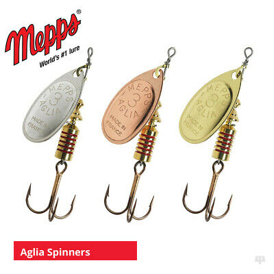 Mepps Aglia Spinners / Lures - Sea Trout Pike Perch Salmon Bass Fishing Tackle