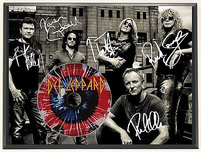 Def Leppard Ltd Edition Signature Series Picture Cd Display Gift