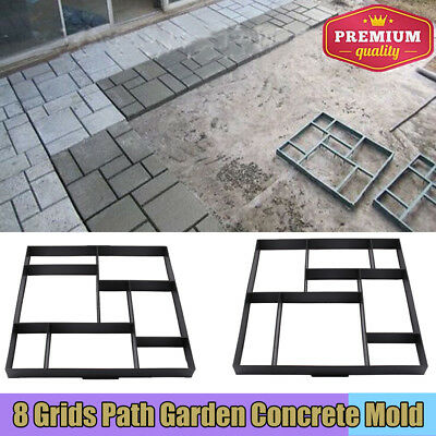 Driveway Paving Brick Patio Concrete Slabs Path Garden Walk Maker Mould HOT -UK