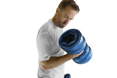AquaBells Dumbbells Water Therapy Inflatable Travel Light Home Gym 16 lbs AB2