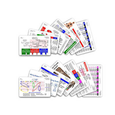 Complete EMS Horizontal Badge Card Set - 12 Cards - Reference Card EMT Paramedic
