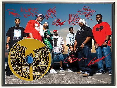 Wu Tang Clan Ltd Edition Signature Series Picture Cd Display Gift