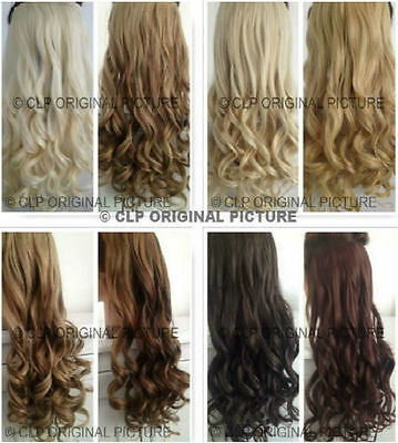 Clip In weft Hair Extension Synthetic, Full Head, one piece, Like Human Hair