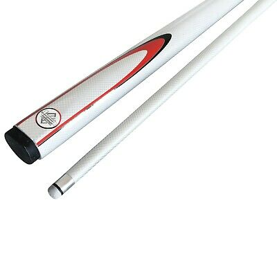 "WHITE 57"" Inch Graphite Composite Pool Snooker Billiard Cue FREE CASE Gift"