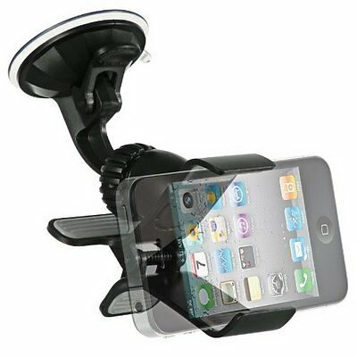 Cell Phone Windshield Dashboard Clamp Car Mount Holder for Apple iPhone 6 6S 5S