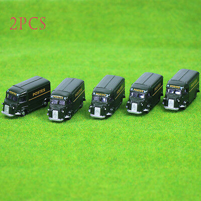 2PCS model POSTES Cars 1:100 TT HO Scale for Building Railway Train Scenery NEW