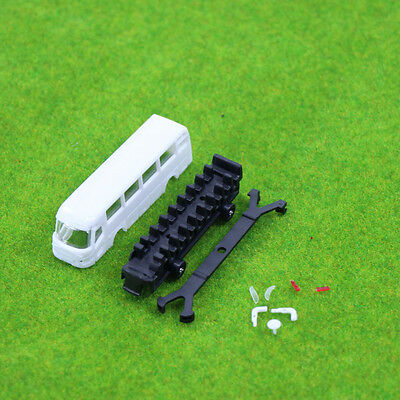 4pcs Model Cars Unpainted  Buses 1:150 N Scale Railway Layout Model Kits NEW