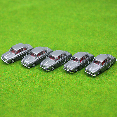 5PCS Model Cars Gray 1:100 TT HO Scale for Building Railway Train Scenery NEW