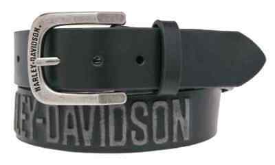 Harley-Davidson Men's Embossed Highway To Hell Leather Belt, Black HDMBT10853BLK