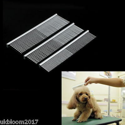 New Pet Puppy Dog Cat Stainless Steel Comb Long Hair Shedding Grooming Flea Comb