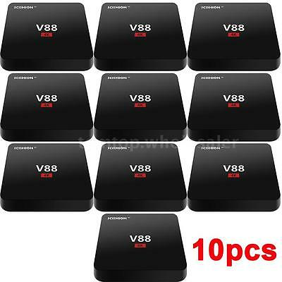 10pcs Android 4.4 Smart TV Box Quad Core Fully Loaded WiFi 1080P 8GB Media