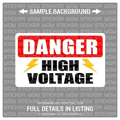 Bumper Sticker Decal - Danger HIGH VOLTAGE (1) 5x3 - Warning Security