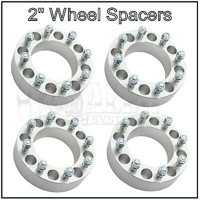 """4 X Wheel Spacers 2"""" 50mm FORD SUPERDUTY EXCURSION 8X170 8 Lug Bolt Adapters"""