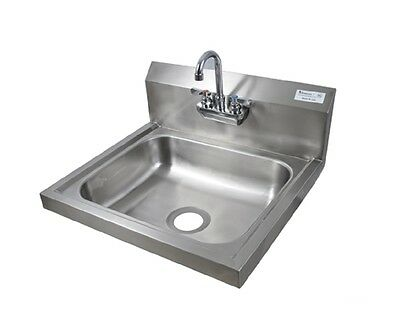 "16"" x 20"" T-304 Stainless Steel Hand Sink w/ Faucet  BBKHS-W-1620-P-G"