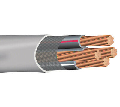 50' 1/0-1/0-1/0-2 Copper Service Entrance Cable SER Type SE Style R Wire