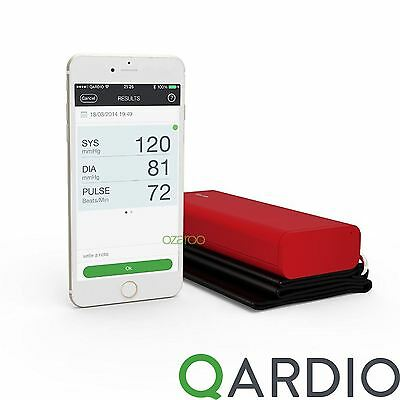 Qardio Arm Wireless Blood Pressure Monitor for iPhone iOS Android, Lightning Red