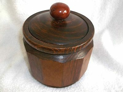 Vintage Solid Wood With High Gloss Finish Tobaco Cannister And Metal Insert