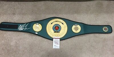 Mike Tyson Signed JSA COA Autographed IBO Championship Authentic Belt HOF Boxing