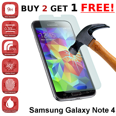 Premium Tempered Glass Screen Protector for Samsung Galaxy Note 4 from Canada
