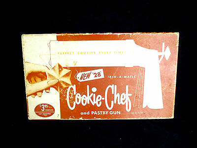 Vintage Trig~A~Matic Cookie Chef #28 in Original Box w Manual
