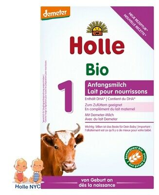 Holle Stage 1 Organic Baby Formula, 0-6 months, 400g 03/2019 FREE SHIPPING