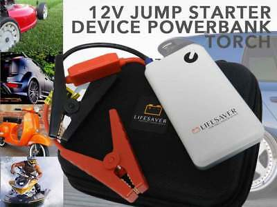 Portable CAR JUMP STARTER Power Bank Vehicle Battery Charger 12V White NEW Carry