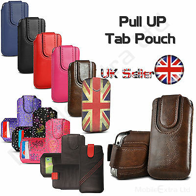 Soft Leather Pull Up Tab Case Pouch Sleeve Cover Sock For Samsung Galaxy A8 S8