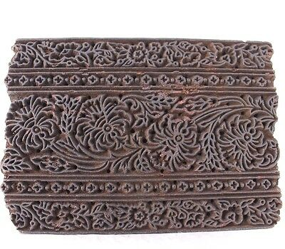 Antique Traditional Hand carved Wooden Textile/Fabric/wallpaper Print Block #194