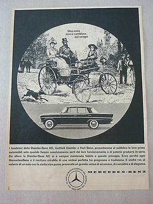 *advertising Pubblicita' Mercedes-Benz Auto Camion  -- 1961 Varie Disponibili