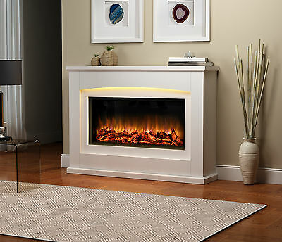 Endeavour Fires Danby Electric Fireplace in a light cream MDF fire suite