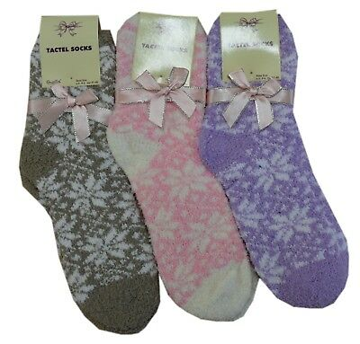 4 Pairs Ladies  Women Fluffy Bed Socks Fluffy Soft Warm Size Uk 4 To 7