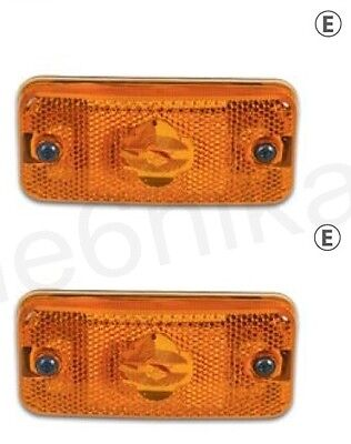 2x Side Marker Light Lamp for FIAT DUCATO (MAXI) 2009> PEUGEOT BOXER Chassis Cab