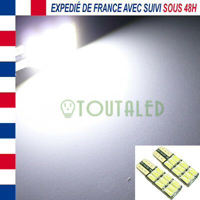 2X Ampoule Lampe 12V T10 W5W Plate 9 Led 5630 Blanc Froid Plafonnier Tuning