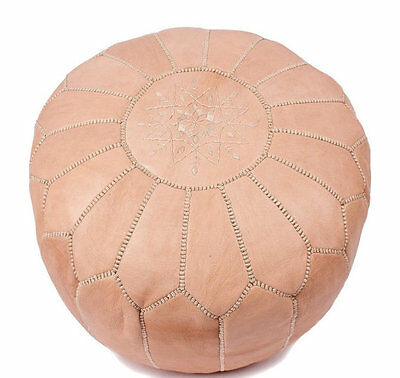 Moroccan Camel Hand Stitched Leather Pouffe