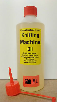 500 Ml DOMESTIC / COMMERCIAL GRADE KNITTING MACHINE OIL MILLERS NON STAINING