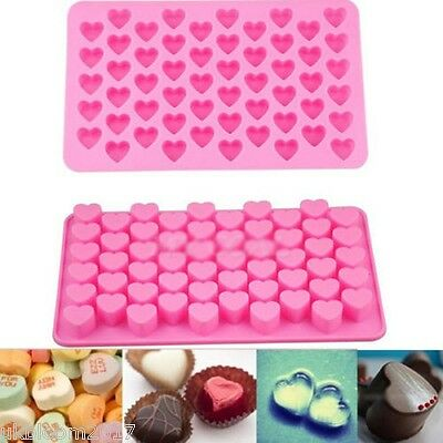 Silicone 55 Heart Cake Chocolate Cookies Baking Mould Ice Cube Soap Mould Tray