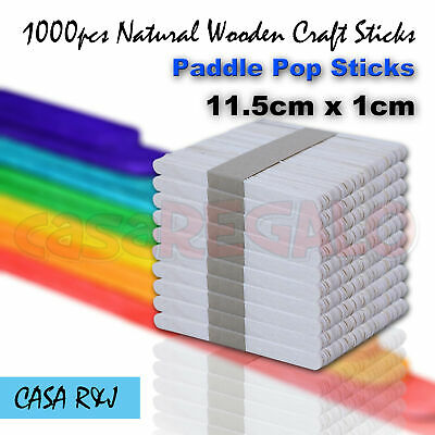 1000 pc Natural Wooden Craft Sticks Paddle Pop Sticks Ice Cream coffee stir