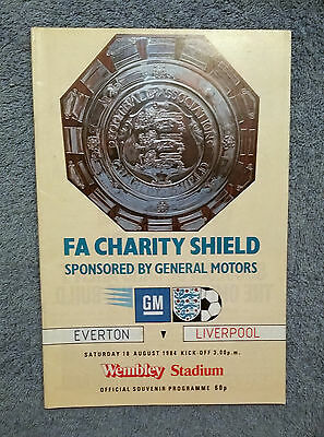 1984 - CHARITY SHIELD PROGRAMME - EVERTON v LIVERPOOL - Great Condition