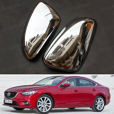 2x Chrome Rearview Side Mirror Cover Trim Strip Fit for Mazda 6 Atenza 2013-2015