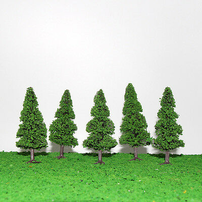 S0405 10pcs 9cm Model Train Trees Pine Railroad Scenery Layout TT HO Scale NEW
