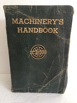 Vintage Machinery's Handbook 13th Edition Industrial Press Reference 1946