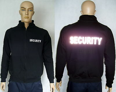 SECURITY Sweatjacke mit Zipp, schwarz od. marineblau, 2 Text-Varianten,S bis XXL