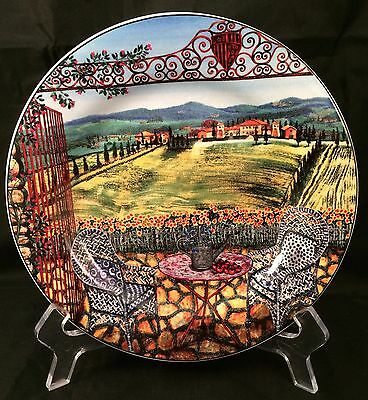 "Sakura Tuscan Travels 8"" Salad Dessert Plate Design #1"
