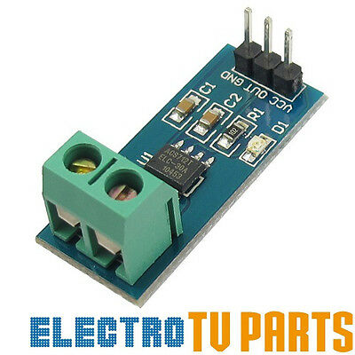 ACS712 20A Range Analogue Current Sensor Module , Hall Effect ACS712ELC-20A 5V