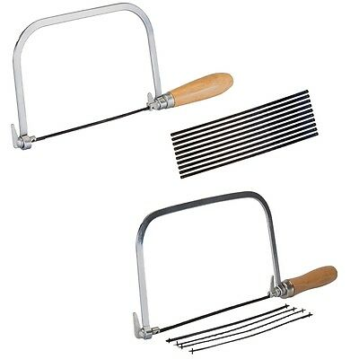 Silverline Coping Saw, Blades Cutting Straight or Angle Wood, Plastic, Laminate