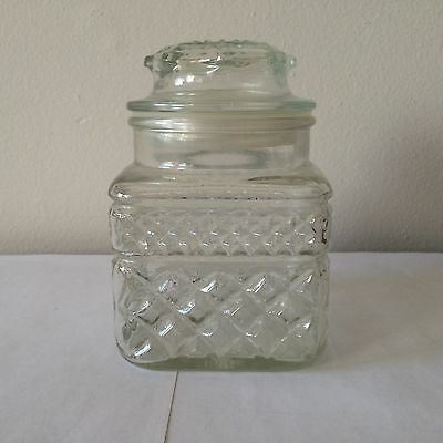 """Vintage Anchor Hocking Wexford 5.5"""" Apothecary Jar Made in USA"""