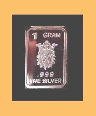 New 1 gm. Whason Mint .999 silver bar -  Dog-faced King   ++ ADD-ONs available !