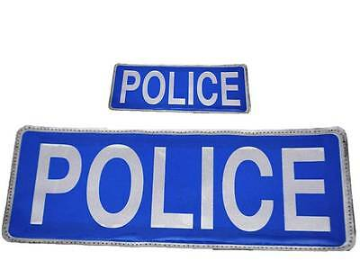 Blue Police Reflective Badge with Velcro (Set) Officers, Special Constables Cop
