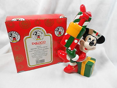 Enesco Minnie with Gifts   Salt and Pepper Shaker
