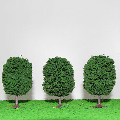 10pcs Ball-shaped Trees Model Train Wargame Diorama Architecture Scenery 9cm NEW